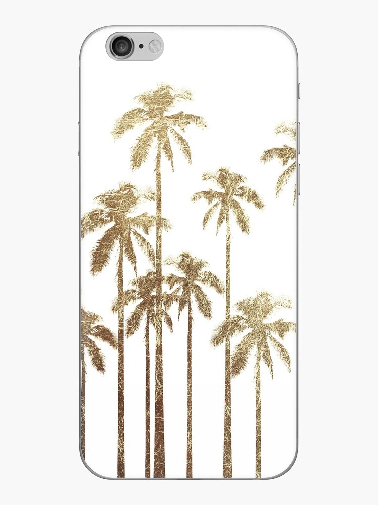 Bezaubernde Goldtropische Palmen auf Weiß von Blkstrawberry
