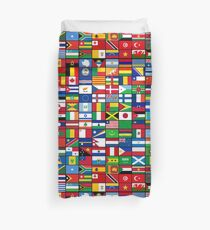 The World's Flags Duvet Cover