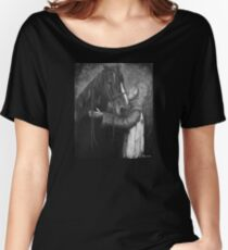 Knight and Horse in Monochrome Women's Relaxed Fit T-Shirt