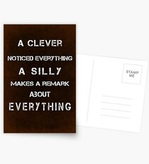 A cleverly noticed everything Postcards