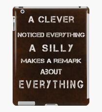 A clever noticed everything iPad Case/Skin