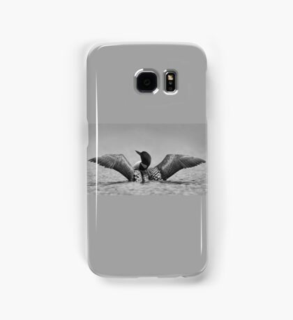 Common loon in black and white Samsung Galaxy Case/Skin