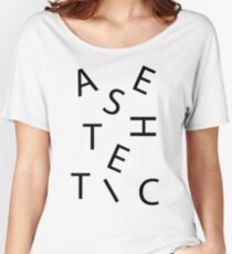 AESTHETIC Letters Women's Relaxed Fit T-Shirt