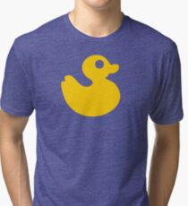 Floating Rubber Duck Tri-blend T-Shirt