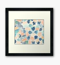 Abstract soft watercolor Framed Print