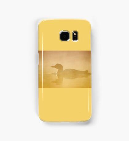In a golden mist - Common loon Samsung Galaxy Case/Skin