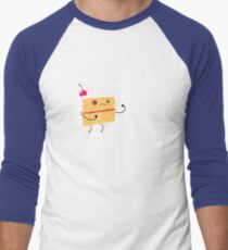 Angry Cake Men's Baseball ¾ T-Shirt