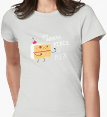 Angry Cake Womens Fitted T-Shirt