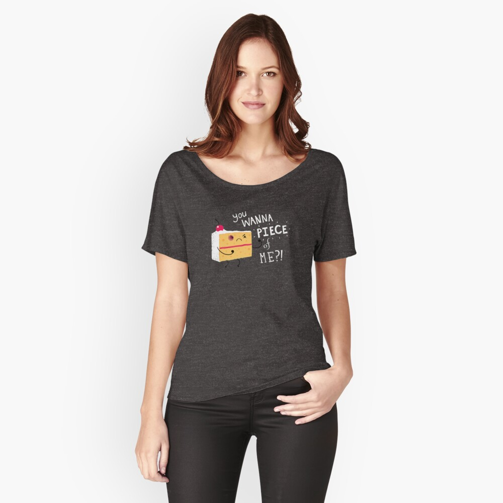 Angry Cake Women's Relaxed Fit T-Shirt Front