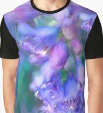 Delphinium Abstract Graphic T-Shirt
