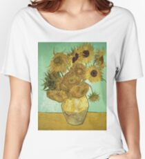 Vincent Van Gogh - Sunflowers  Women's Relaxed Fit T-Shirt
