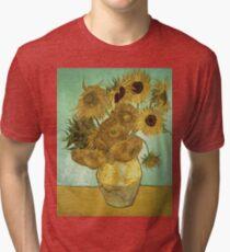 Vincent Van Gogh - Sunflowers  Tri-blend T-Shirt