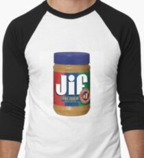 Jif Peanut Butter (Extra Crunchy) Men's Baseball ¾ T-Shirt
