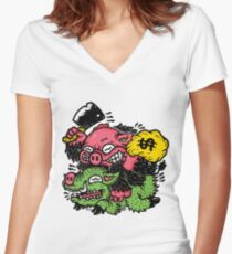 Baboy Women's Fitted V-Neck T-Shirt