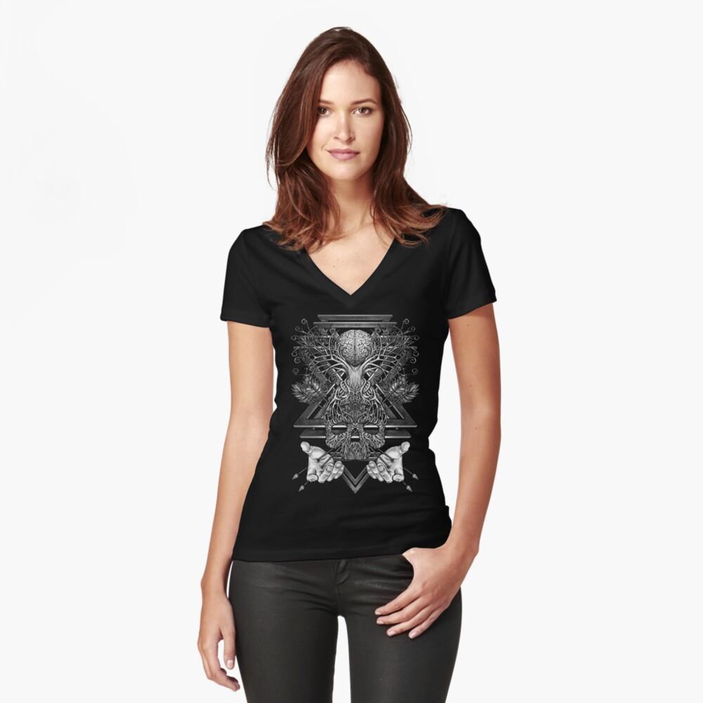 Winya Nr. 57 Tailliertes T-Shirt mit V-Ausschnitt