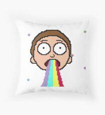 RICK AND MORTY - GOODBYE MOONMEN [PIXEL ART] Throw Pillow