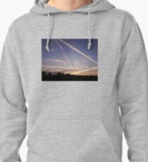Sunset with Con Trails Photo T-Shirt