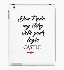 Castle quote iPad Case/Skin