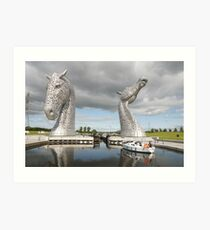 The Kelpies sculptures  Art Print