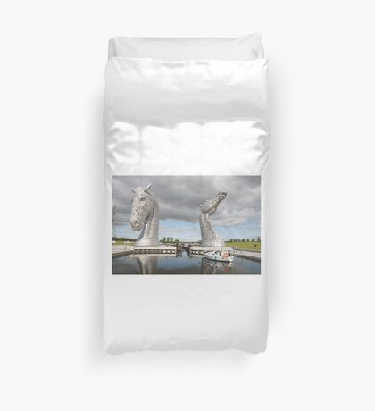 The Kelpies sculptures  Duvet Cover