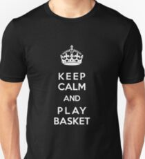 Keep Calm and play basket Unisex T-Shirt