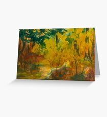 Automne lumineux Greeting Card
