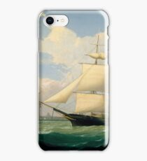 Fitz Henry Lane - The Ships Winged Arrow And Southern Cross In Boston Harbor  iPhone Case/Skin