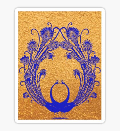 Blue peacocks Sticker