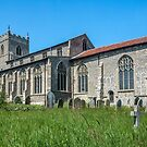 St Mary`s Church, Wiveton, North Norfolk, South Face by Hugh McKean
