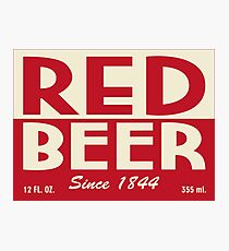 Red Beer Photographic Print