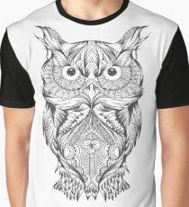 hand drawn owl Graphic T-Shirt