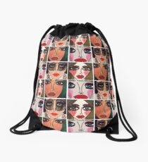 Fashion Doll Montage III Drawstring Bag