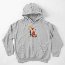 Rainbow Fox Kids Pullover Hoodie