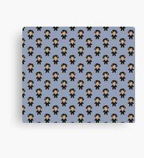 8-bit Groom Pattern Canvas Print