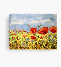 Wildflowers in Acrylics Canvas Print