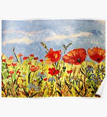 Wildflowers in Acrylics Poster