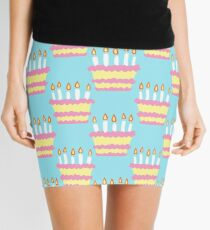 Birthday Cake Pattern Mini Skirt