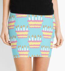 Birthday Cake Pattern Mini Skirt