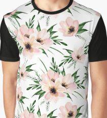 Pink bouquet. Watercolor Graphic T-Shirt