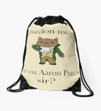 Alexander Hamilcat (Black Text) Drawstring Bag