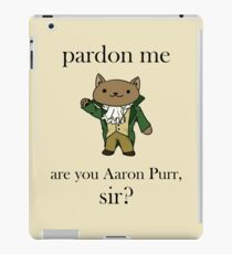 Alexander Hamilcat (Black Text) iPad Case/Skin