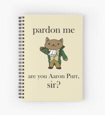 Alexander Hamilcat (Black Text) Spiral Notebook