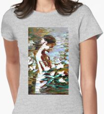 Glitch Girl Womens Fitted T-Shirt