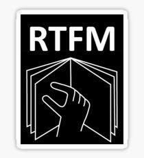 RTFM!!! Sticker