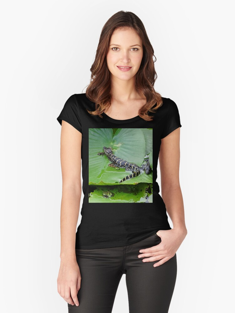 Smaller then a lilypad Women's Fitted Scoop T-Shirt Front