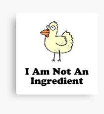 Ingredient Chicken Canvas Print