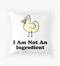 Ingredient Chicken Throw Pillow