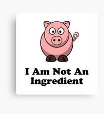 Ingredient Pig Canvas Print