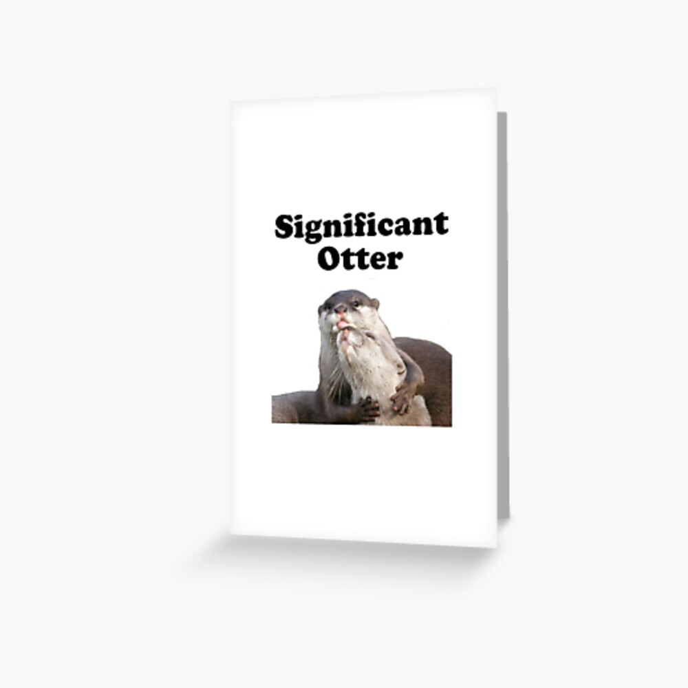 Bedeutender Otter Grußkarte