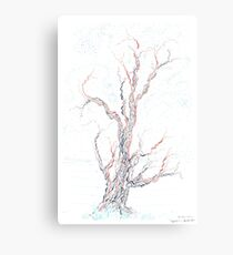 Genetic branches (hand drawn ink on paper) Canvas Print
